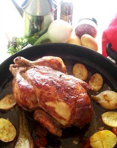 pollo- horno- romero - tomillo
