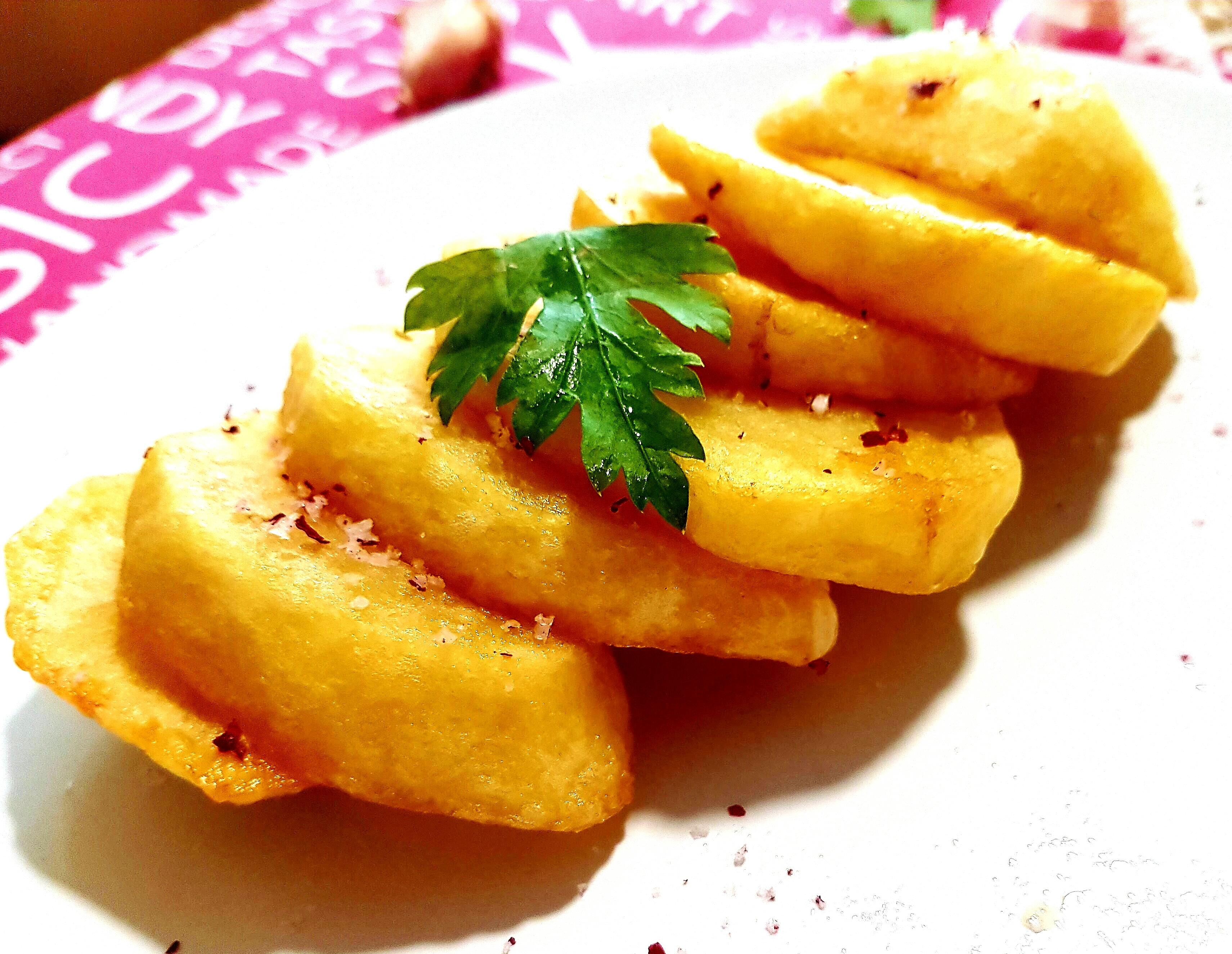 patatas papas fritas confitadas