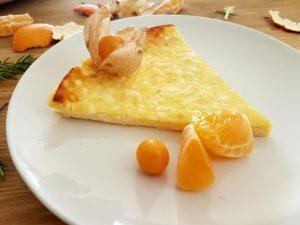 tarta queso philadelphia con mandarina y mango