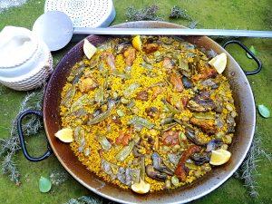 Paella-valencia-alcachofa-judias-habas-arroz