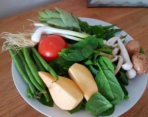 Judia_bachoqueta_nabo_tomate_tomatoes_spinach_espinacas_alcachofas_setas_champiñones_ajo_gralic