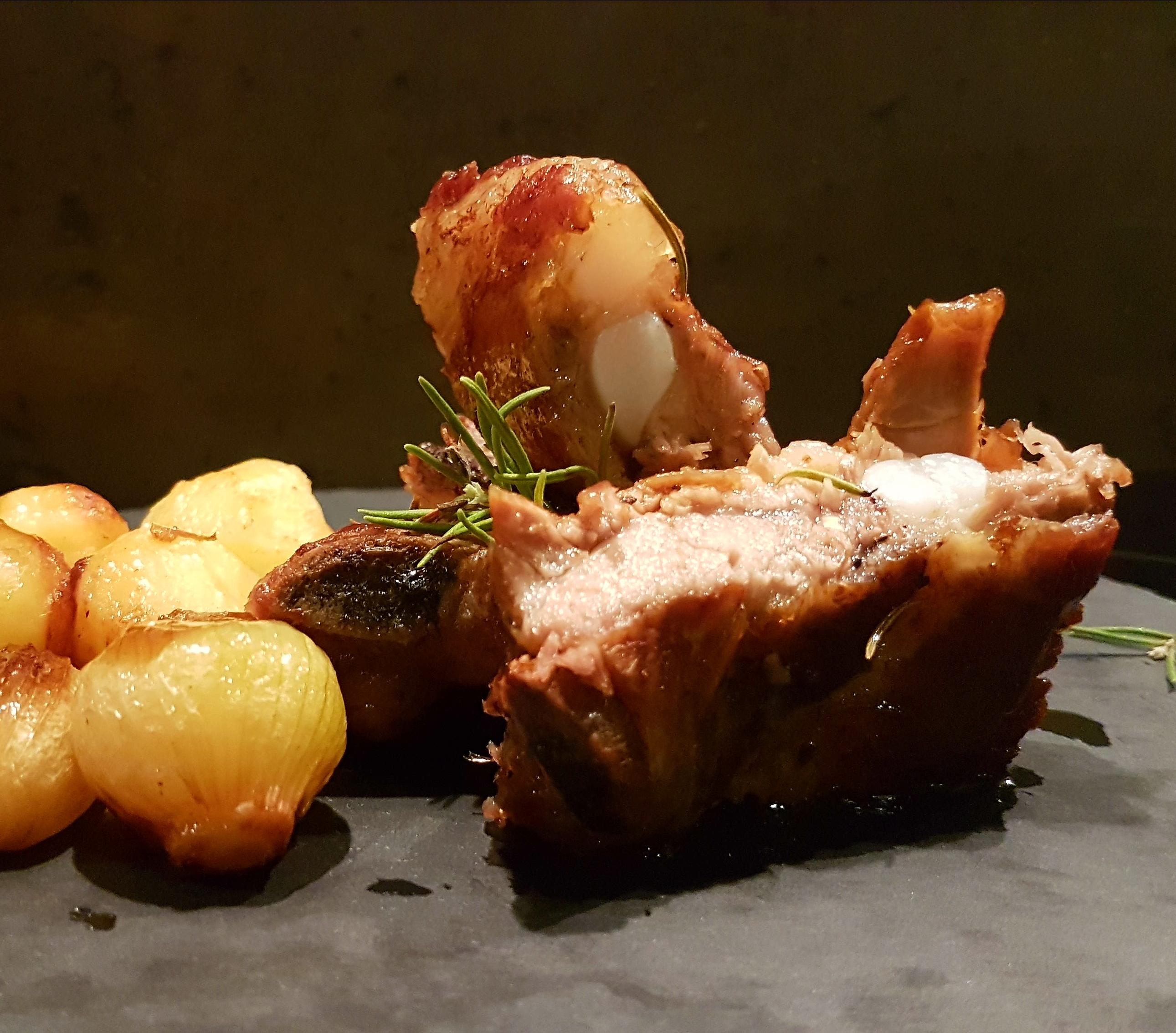 Costillss de cerdo al horno