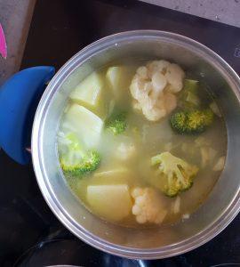 Crema de brócoli y coliflor