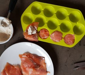 Bombones de salmón ahumado