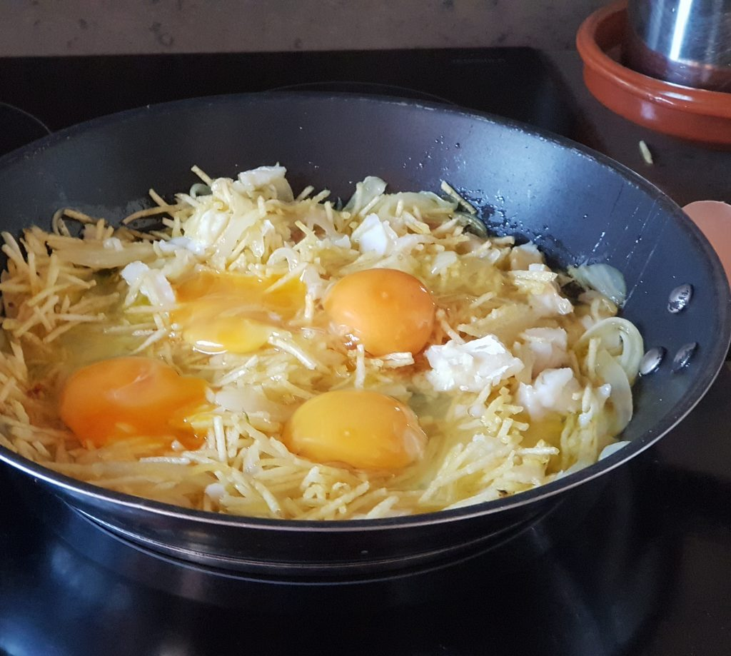 bacalao dorado con patatas paja